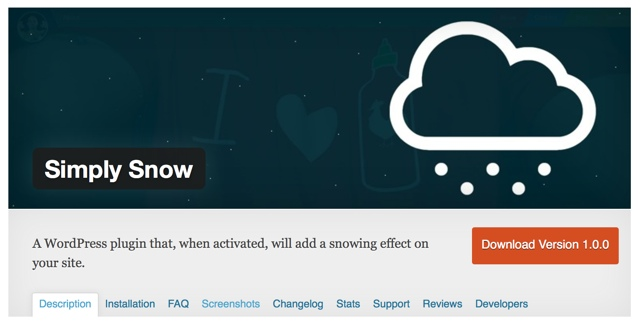 Simply Snow WordPress Plugin